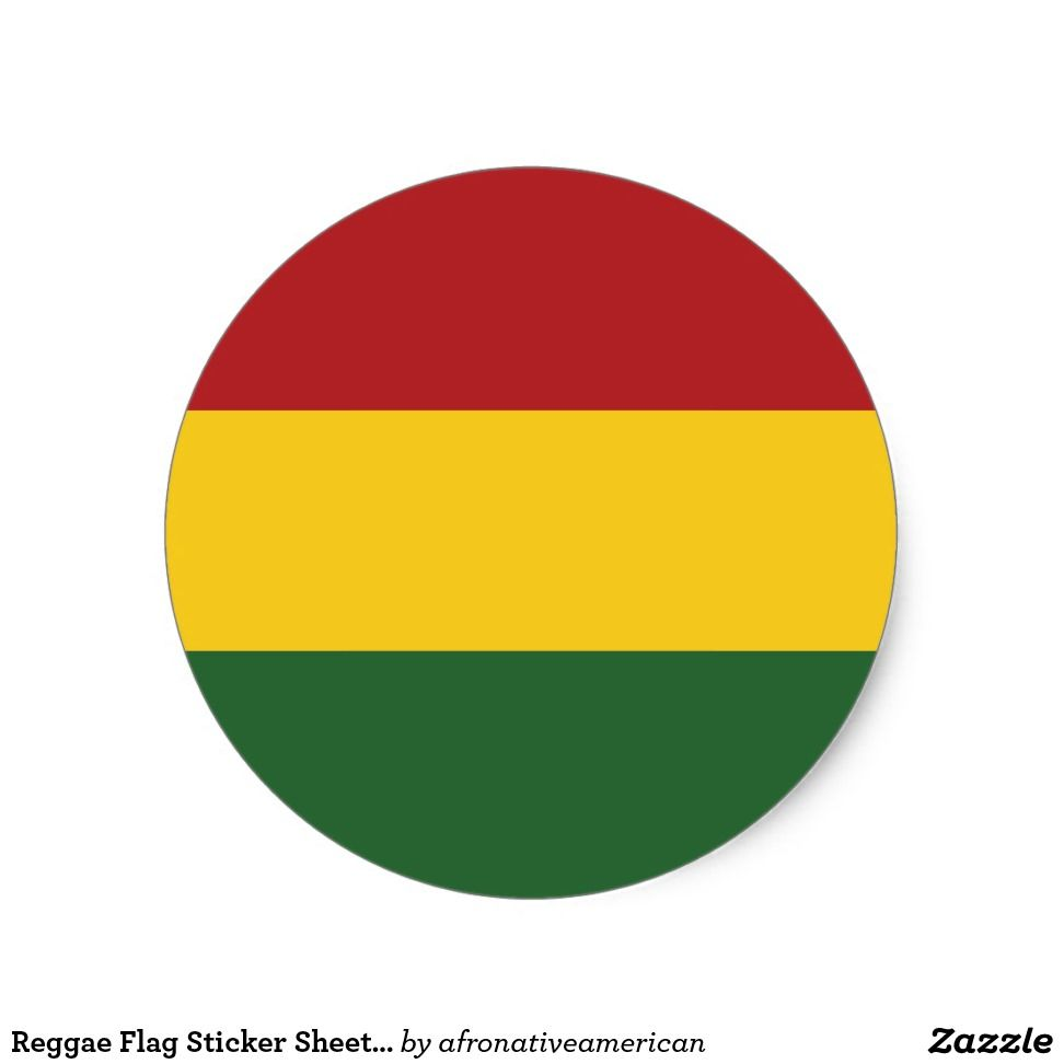 Reggae Flag Stickers