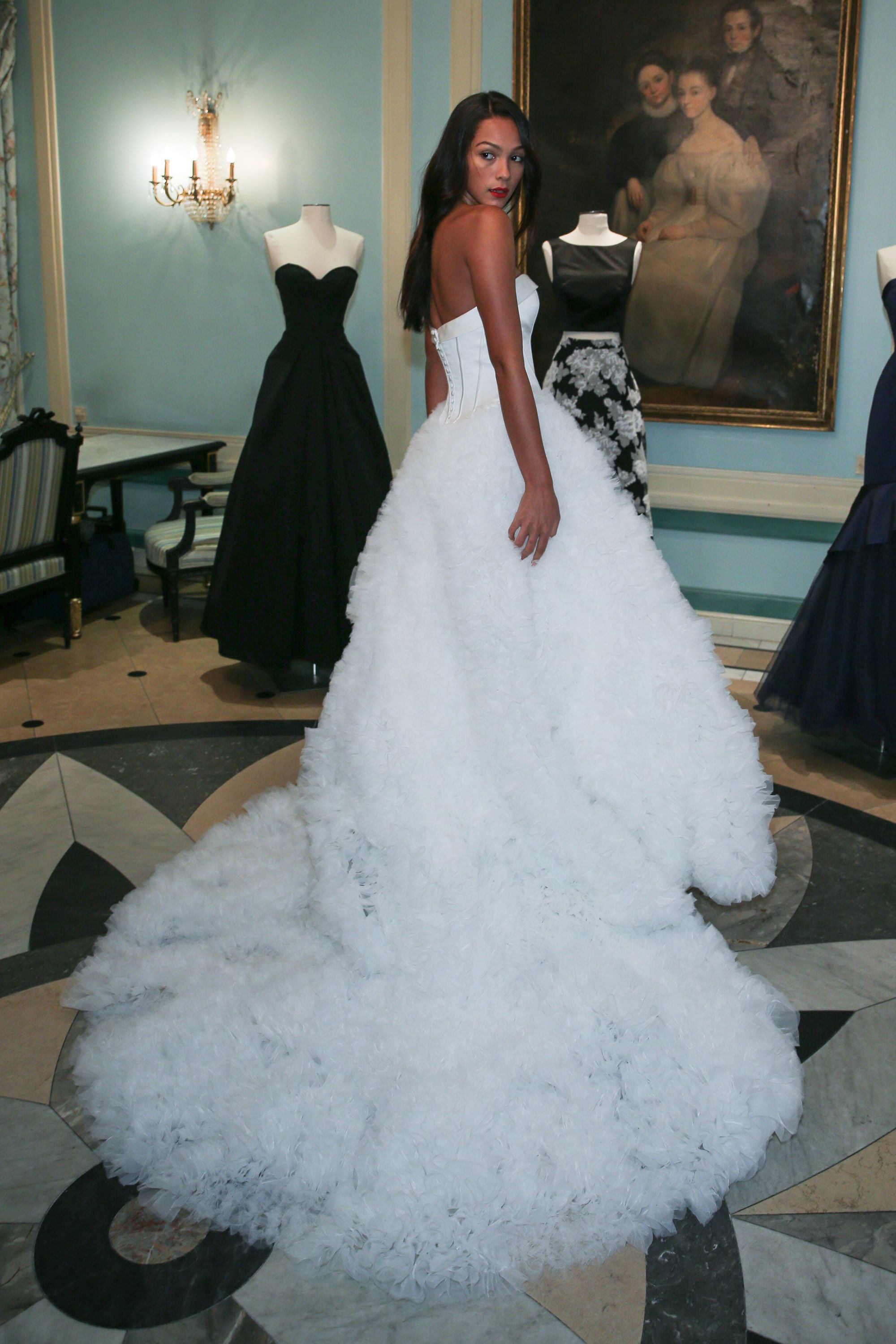 Zac posen wedding dress   of the most beautiful gowns from Bridal Fashion Week  Truly zac