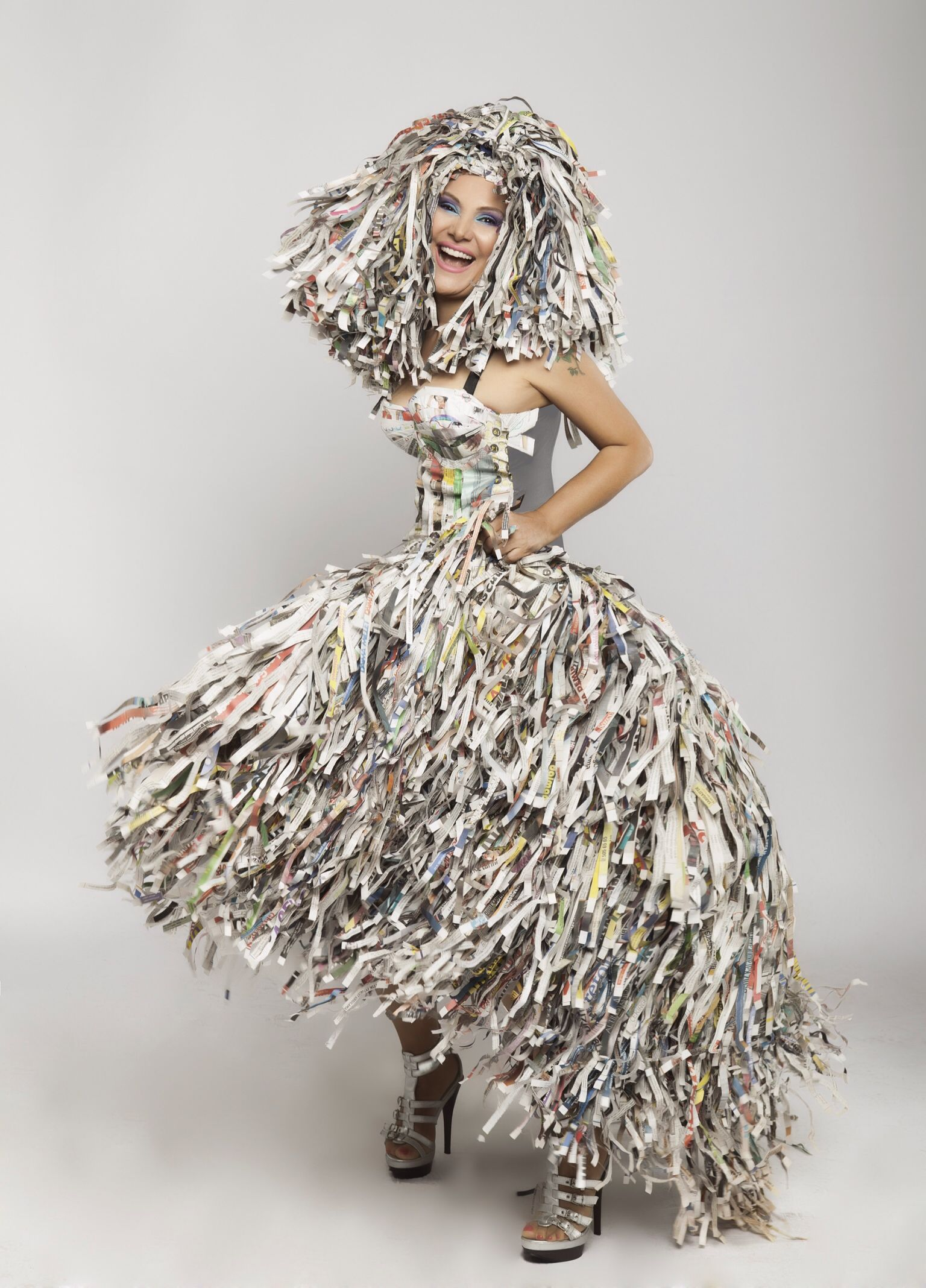 Recyclable Fashion: Paper And Recycled Dress