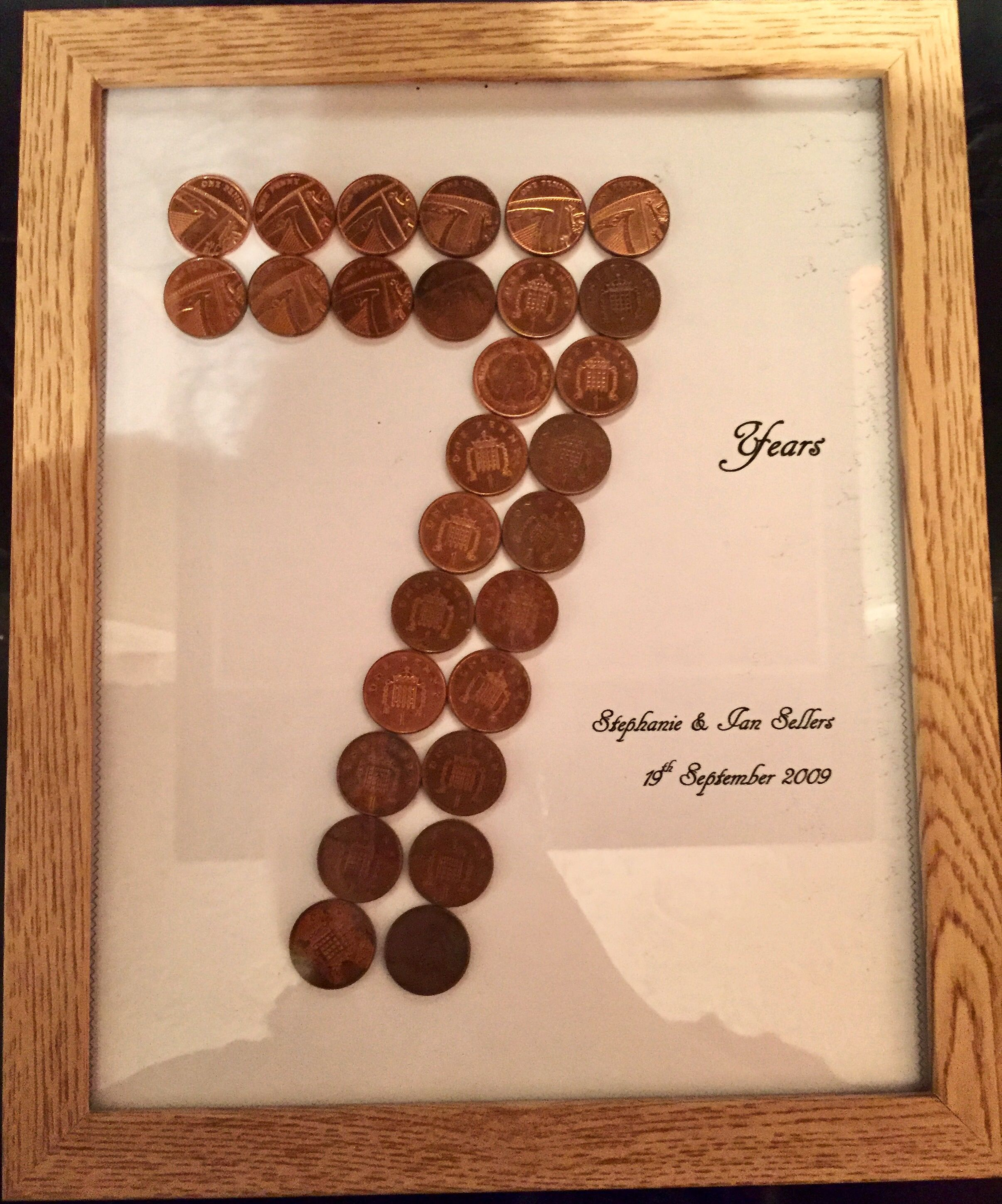 7th wedding anniversary (copper) gift Wedding