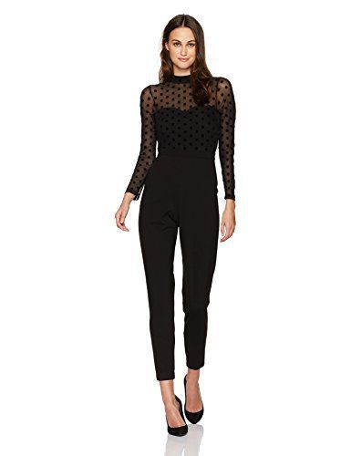 887c35e880f French Connection Women s Leah Mesh Jersey Jumpsuit