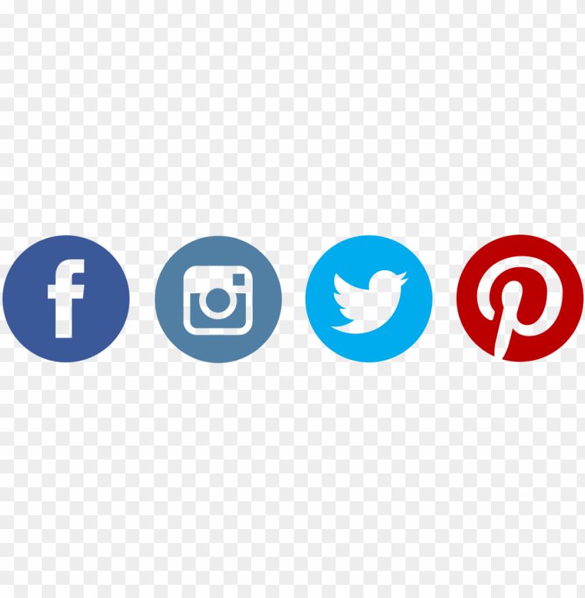 facebook twitter instagram pinterest logo PNG image with