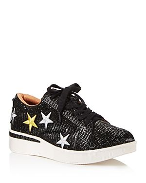 e7bcea359829 GENTLE SOULS WOMEN S HADDIE STAR-EMBROIDERED LEATHER LACE UP SNEAKERS.   gentlesouls  shoes