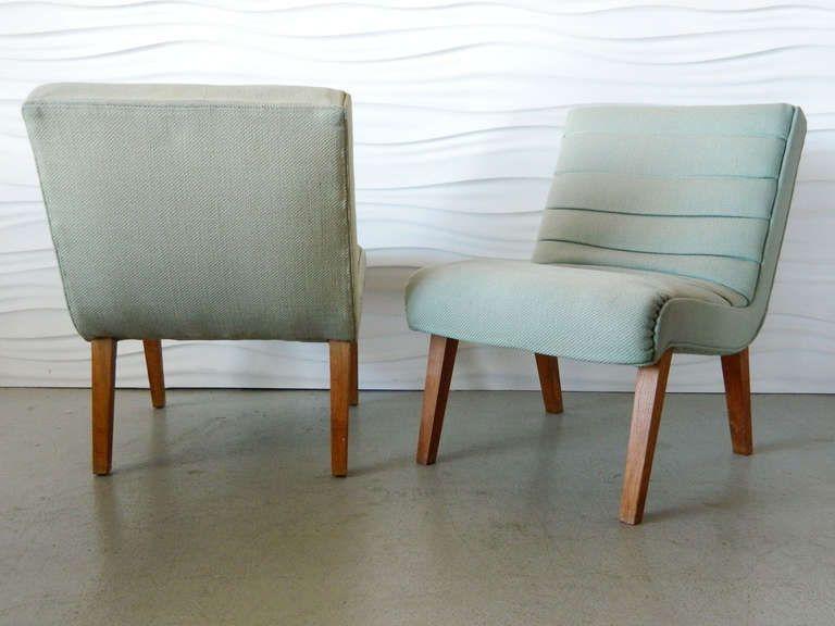 Strange Pair Paul Laszlo Style Slipper Chairs Slipper Chairs Theyellowbook Wood Chair Design Ideas Theyellowbookinfo