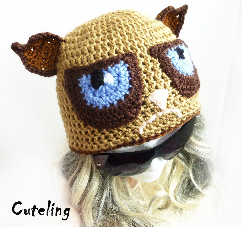 Grumpy Cat Crochet Hat Pattern Free : Crochet Grumpy Cat Hat www.galleryhip.com - The Hippest Pics
