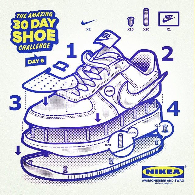 Day 6 In My #30dayshoechallenge   Nikea Air Force 1 #drawing #vector #nike
