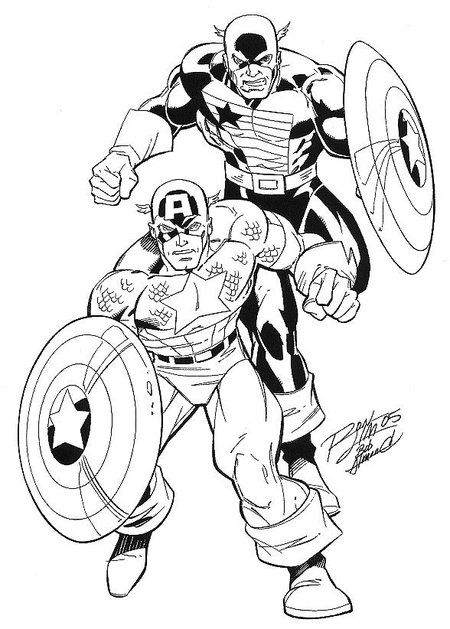 Captain America - Avengers Coloring Pages for Kids u003eu003e Disney - new hulkbuster coloring pages