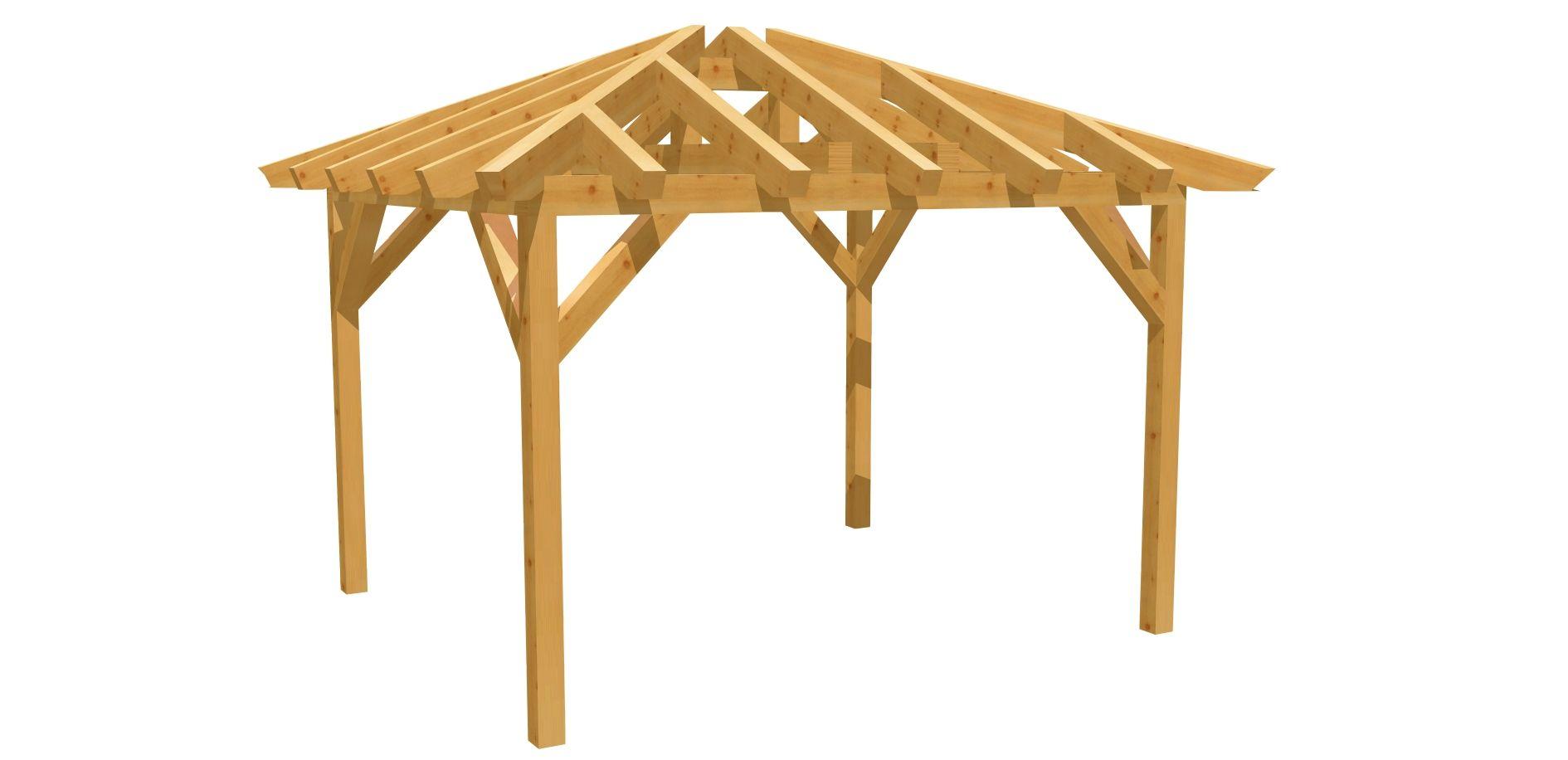 Carport Walmdach Selber Bauen Outdoor Structures Gazebo Structures