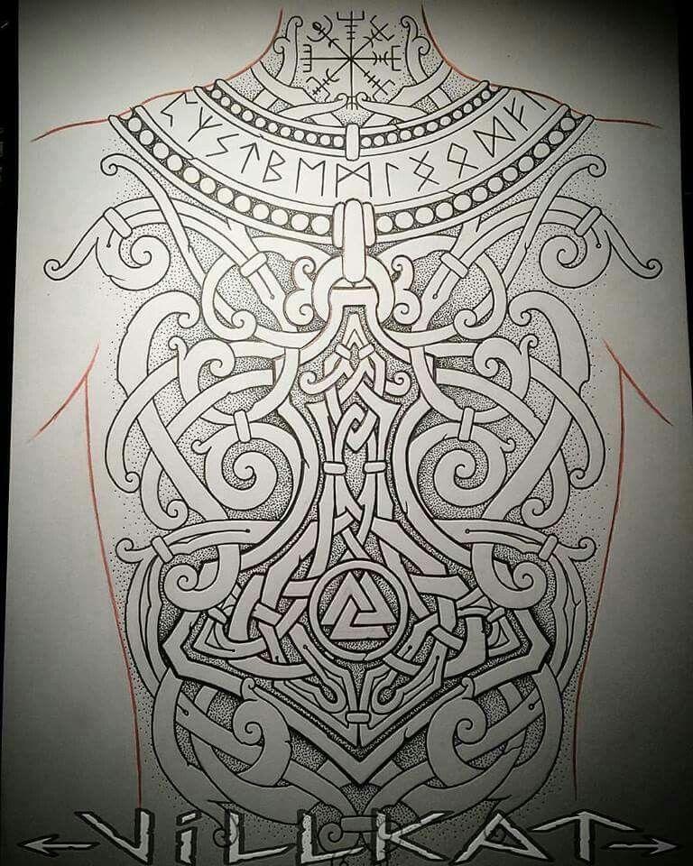 Viking Tribal Tattoos: Nice Viking Backpiece