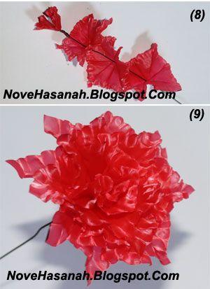 cara membuat bunga dari kantong plastik kresek bekas pakai yang sangat  mudah 7 cb6087d35a
