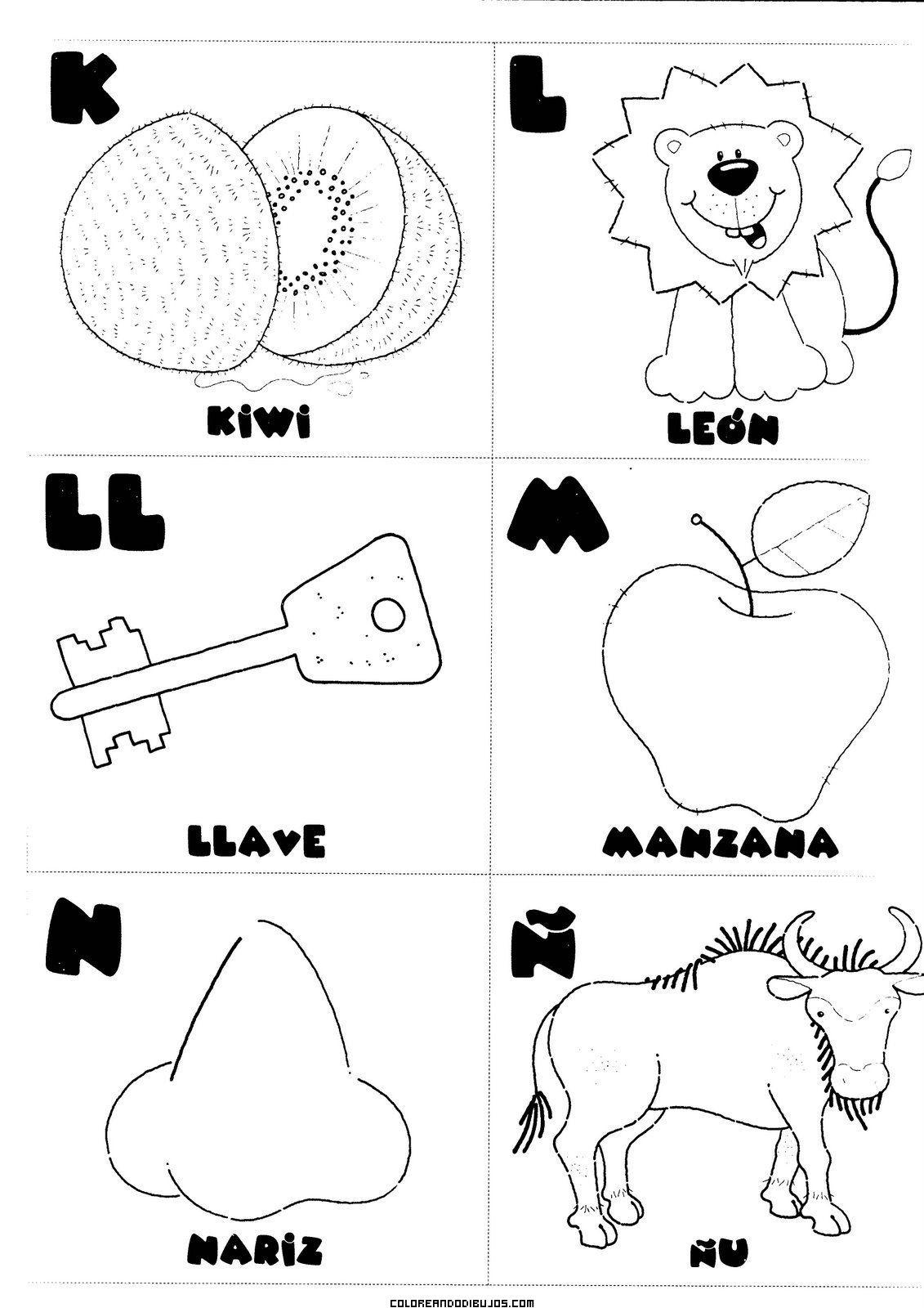 Letras K L Ll M N ñ Para Colorear Comunicación