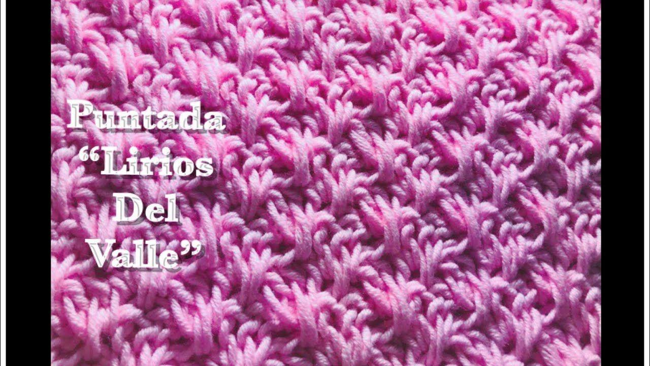 Puntada Lirios Del Valle en gancho | a crochet para mantas de bebé ...