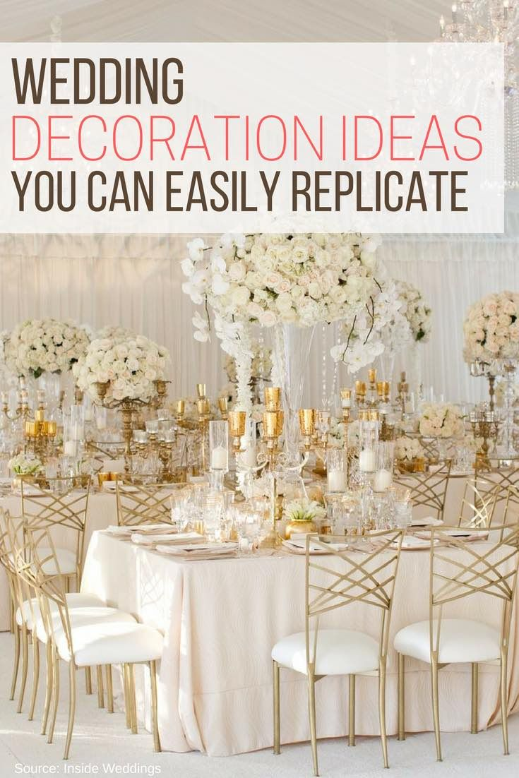 Wedding Decoration Ideas You Can Easily Replicate | Diy wedding ...