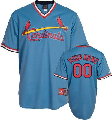 reputable site b2bb5 4dfe5 St. Louis Cardinals Cooperstown Columbia Blue Retro Baseball ...