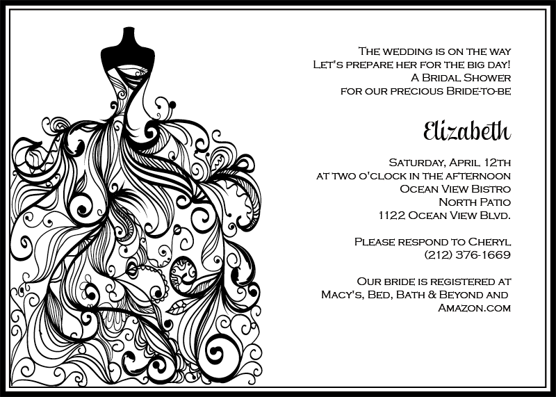 Bridal Shower Invitations Free And Get Ideas How To Make Mesmerizing - Black and white bridal shower invitation templates