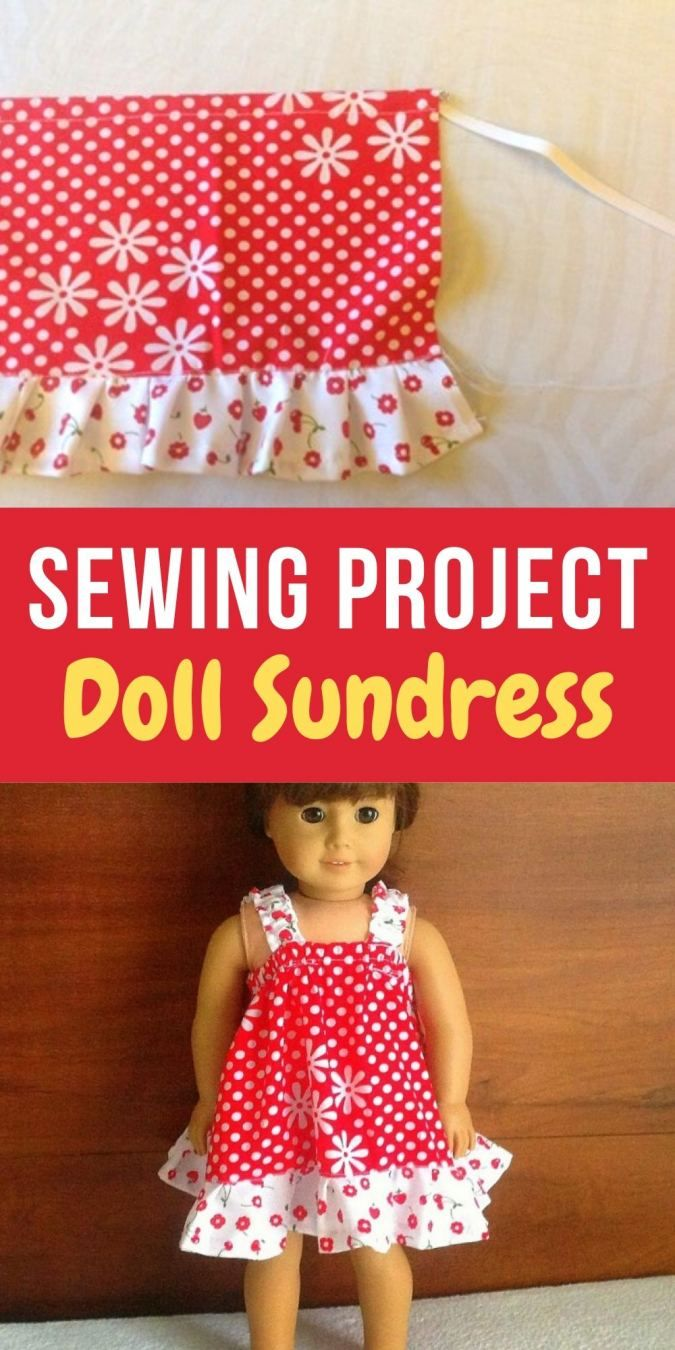 Easy Doll Sundress Sewing Pattern - Sew Crafty Me