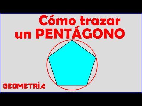 Como Trazar Un Pentagono Regular Dentro De Una Circunferencia Youtube Pentagono Dibujos De Geometria Circunferencia