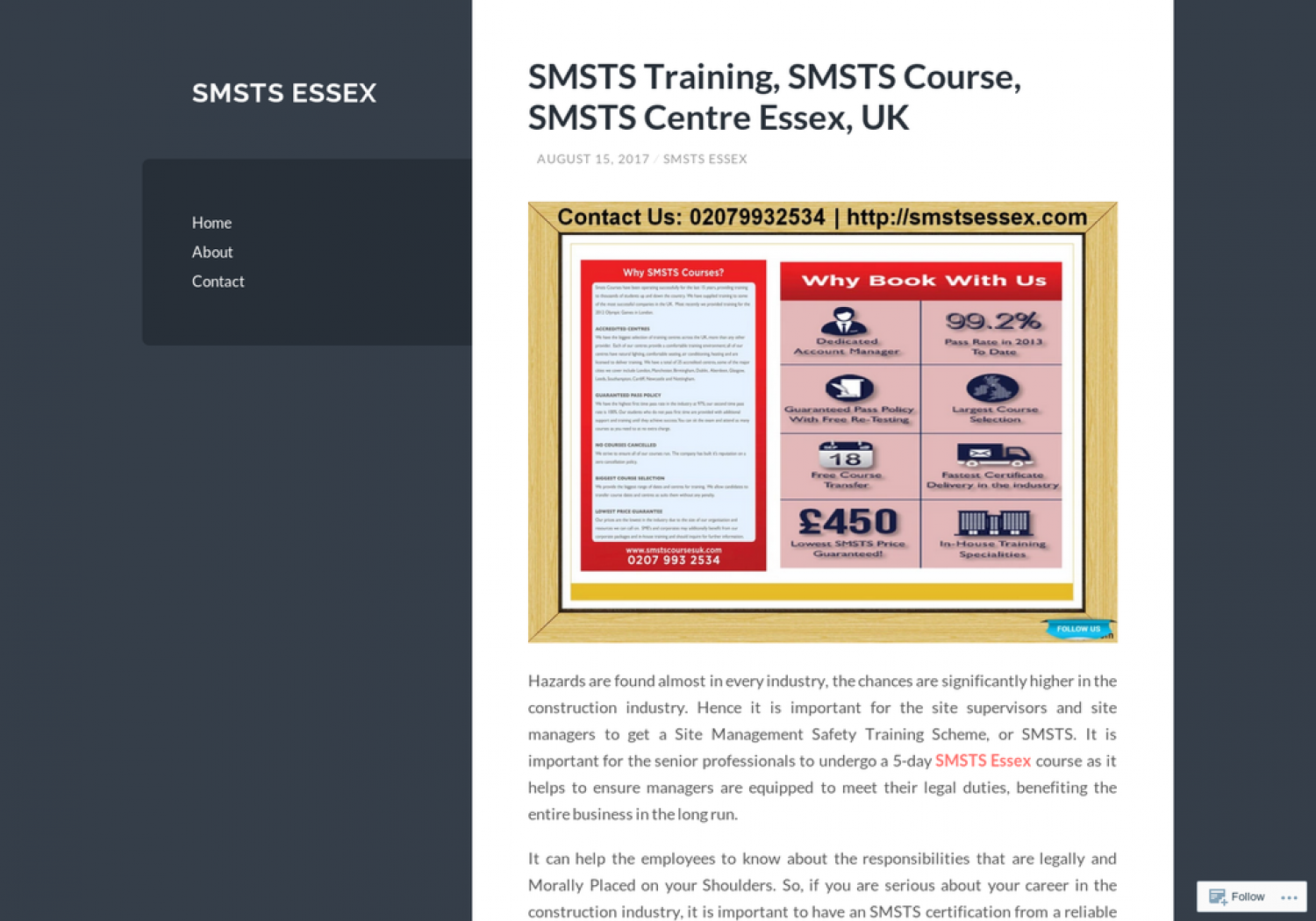 Pin by SMSTS Essex on SMSTS Training Centre Southend Why