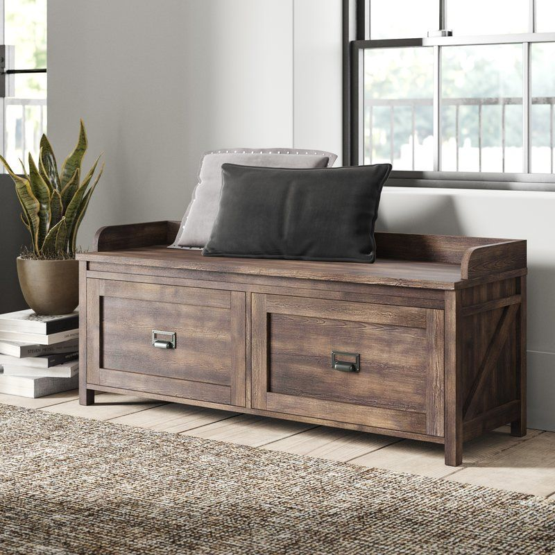 Ardina Wood Storage Bench Wood Storage Bench Living Room Bench Bench With Storage