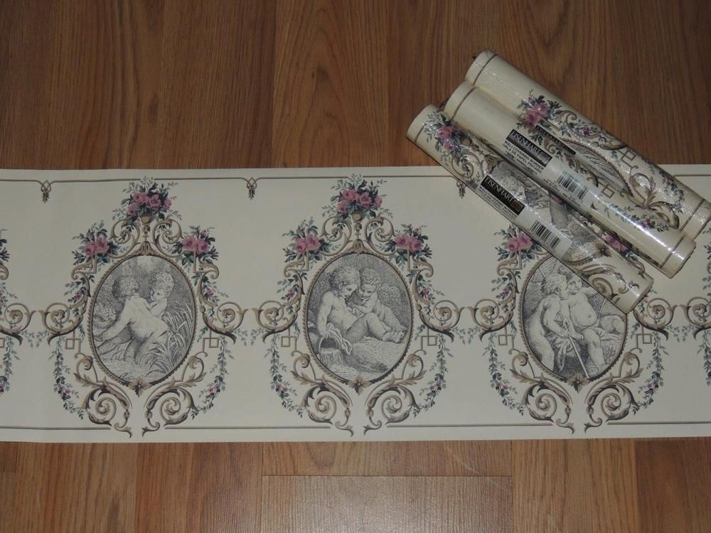 eisenhart wallcovering border size 9 in x 5 yd each roll lot of