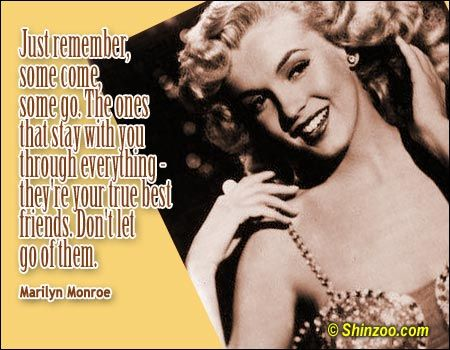 Marilyn Monroe Quotes About Friendship Glamorous Quotesmarilyn Monroe  Dear Marilyn We Adore You  Pinterest