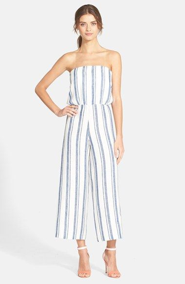 c1269ef2e01 Alice+++Olivia+ Lucie +Crop+Wide+Leg+Linen+Jumpsuit+available+at+ Nordstrom