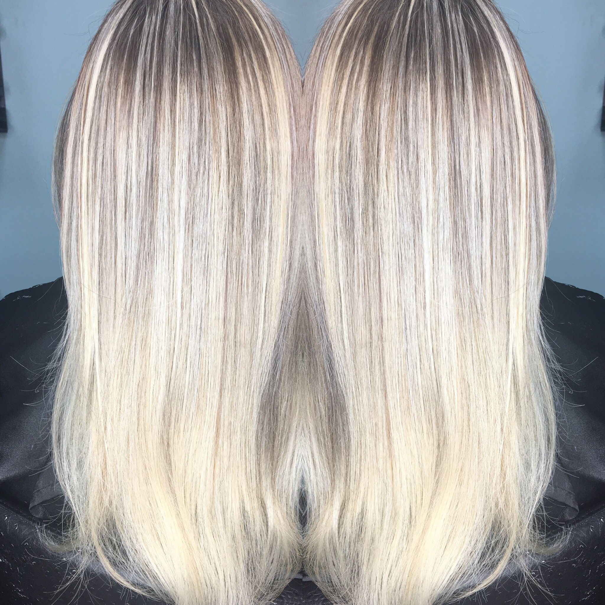 Icey Blonde Using Keune Cream Bleach 30 Vol In Foils For 10 Mins Then Added Keune Semi Color 8 17 Double Semi Activa Foil Hair Color Hair Color Icey Blonde