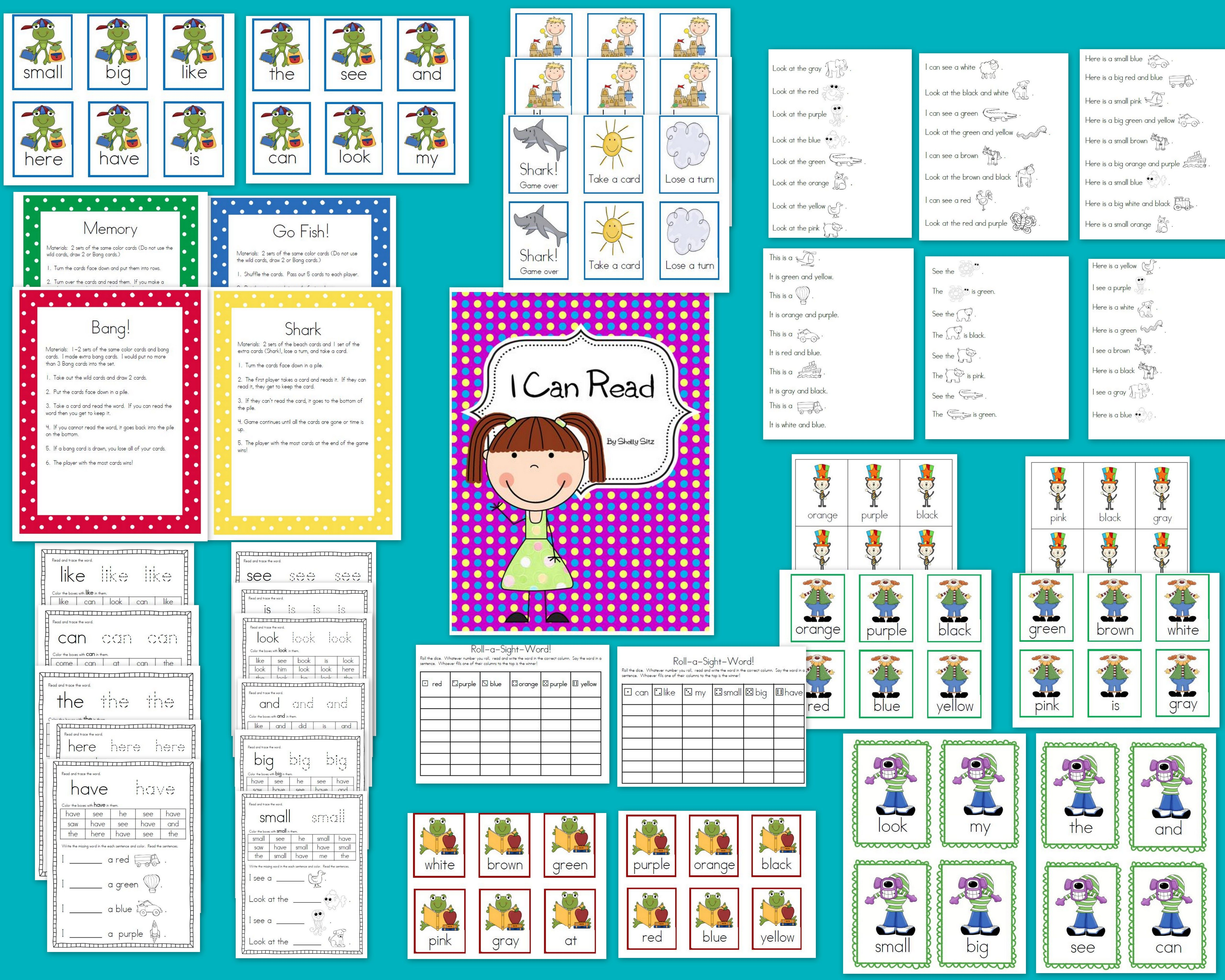 I Can Read Sight Words Printables And Games