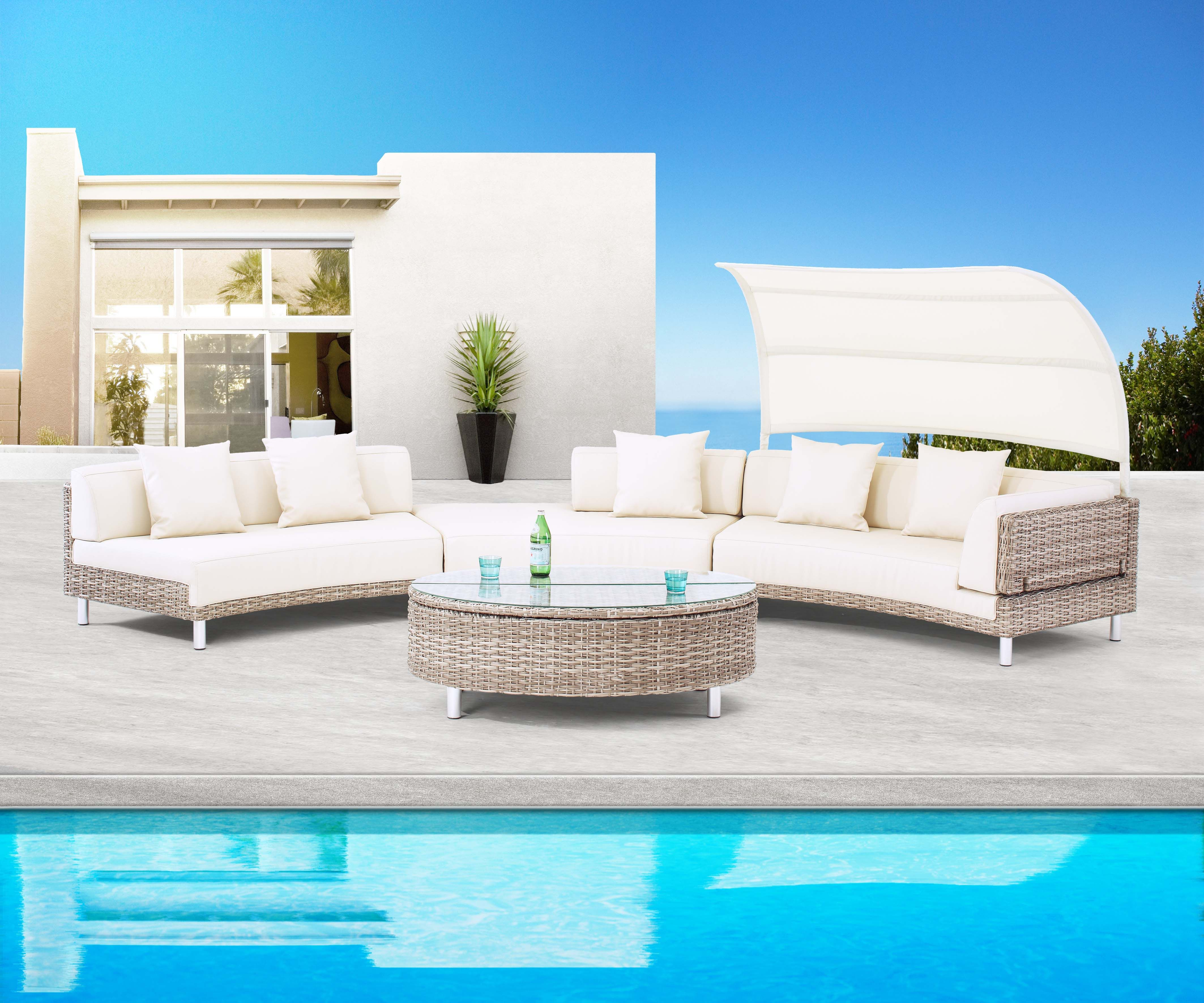 Liegeinsel Outdoor Stylish Outdoor Sofa Set From Fiore Rosso Lavanda Collection