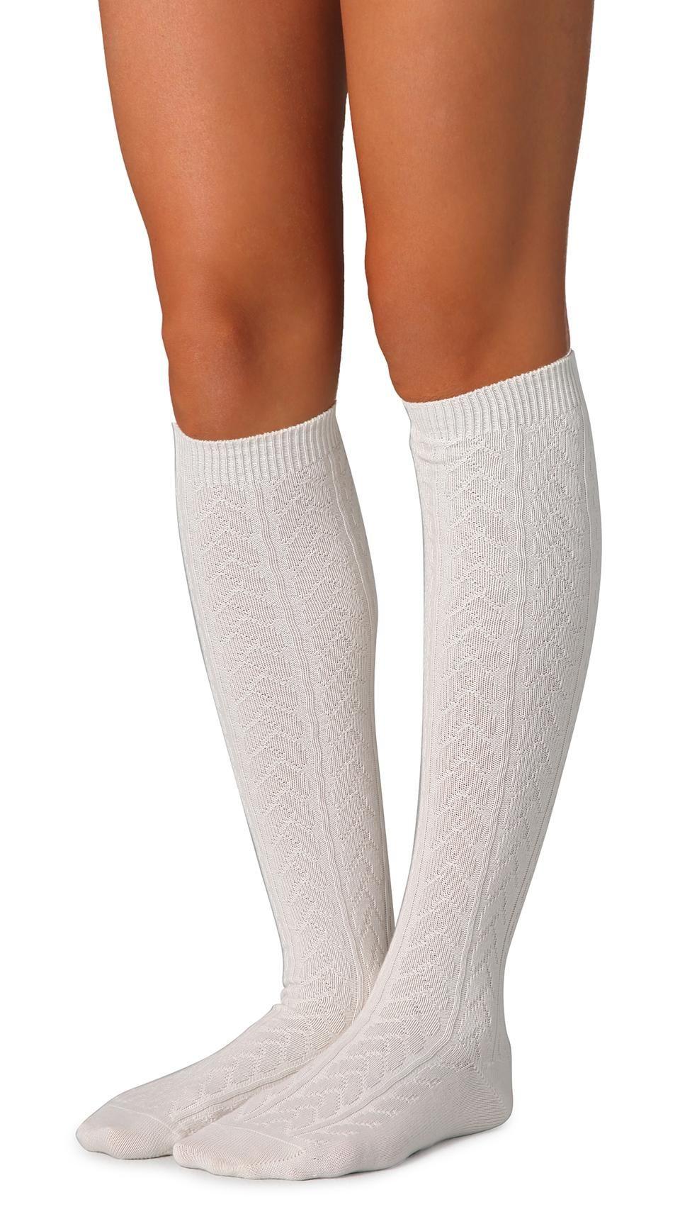 Knee socks - so cute Falke Striggings Cable Knit Knee High Socks ...