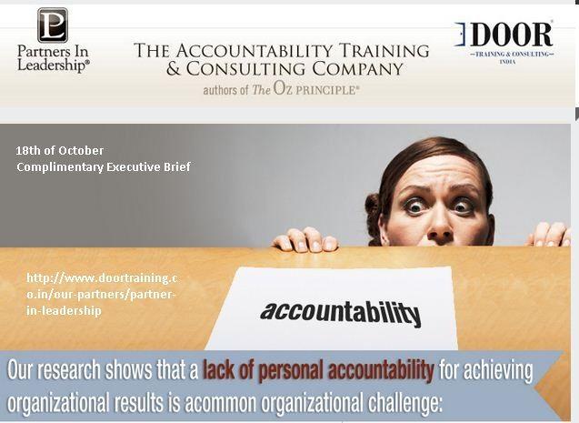 Partners In Leadership S The Oz Principle Accountability Training