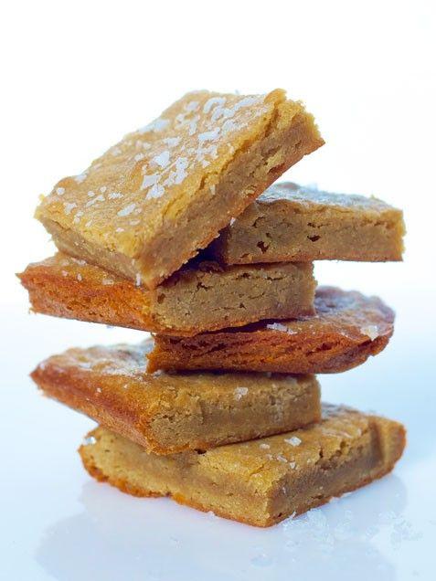 Salted Caramel Blondie Bites