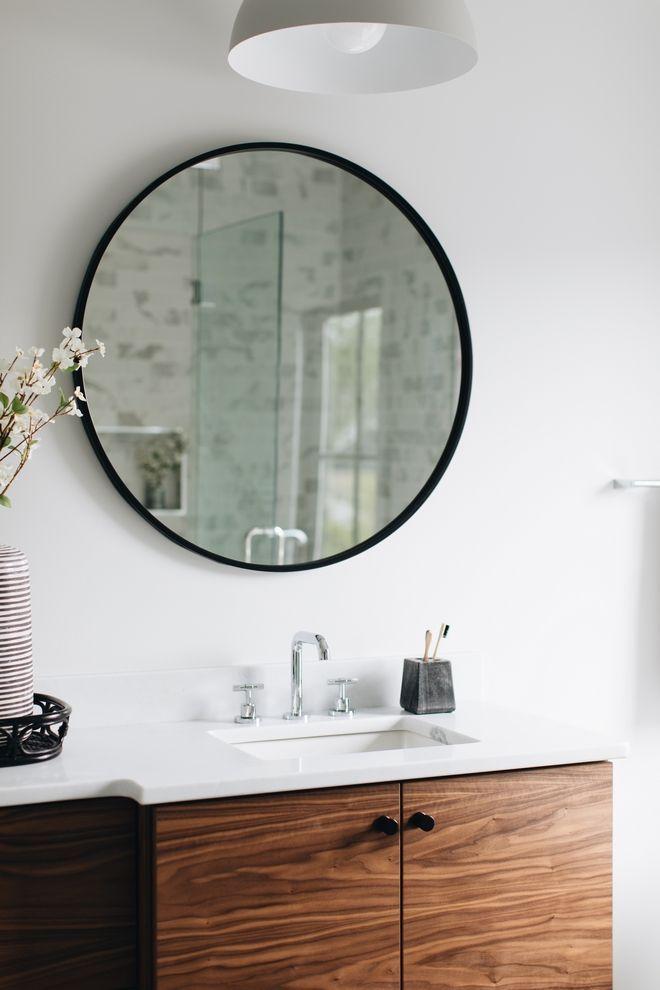 Round Black Mirror Bathroom round black mirror frame Black ...