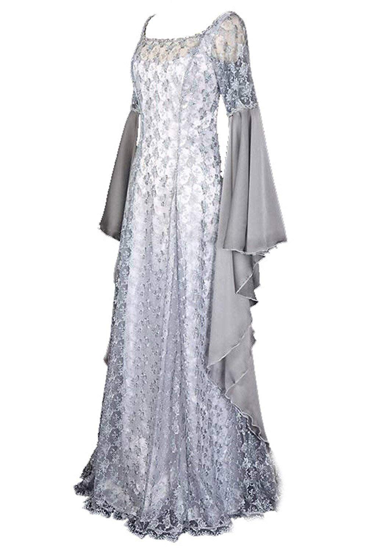 Ladies Masquerade Party Irregular Dress Long Sleeve Skirts Cos Halloween Costume