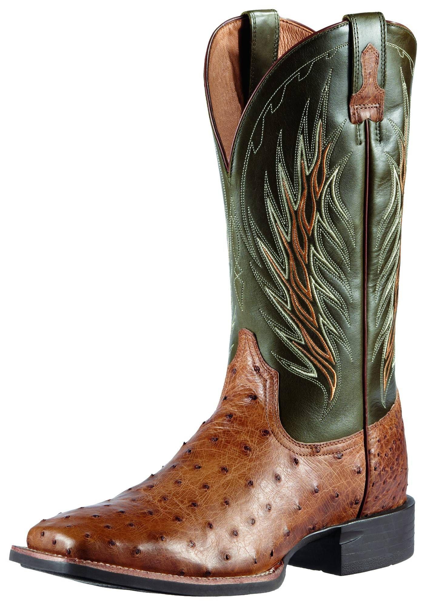 10011786 | Allens Boots | Men's Ariat Full Quill Ostrich Boots ...