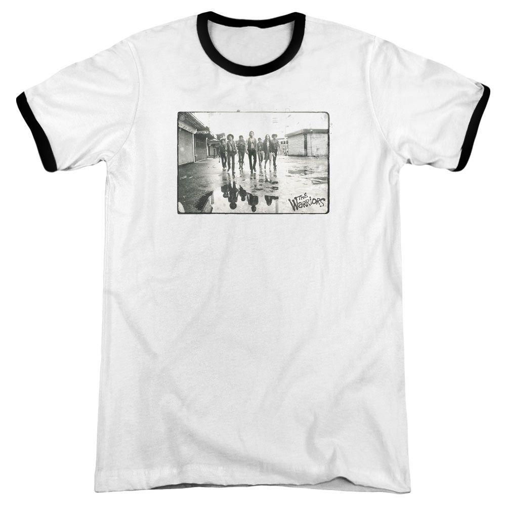 Warriors Rolling Deep White / Black Ringer T-Shirt