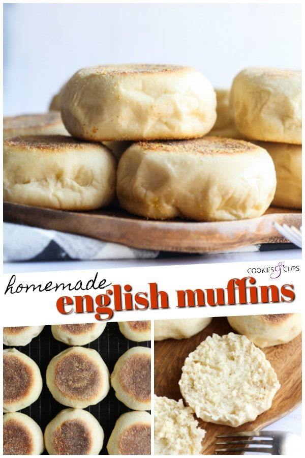 This Easy English Muffins Recipe Is Cooked On A Skillet And Makes Fluffy English Muffins Full In 2020 Homemade English Muffins English Muffin Recipes Homemade Recipes