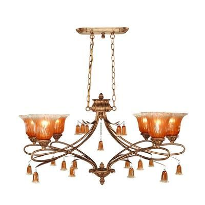 Eurofase - Sorrento Collection 6-Light Weathered Gold Chandelier - 13398-019 - Home Depot Canada
