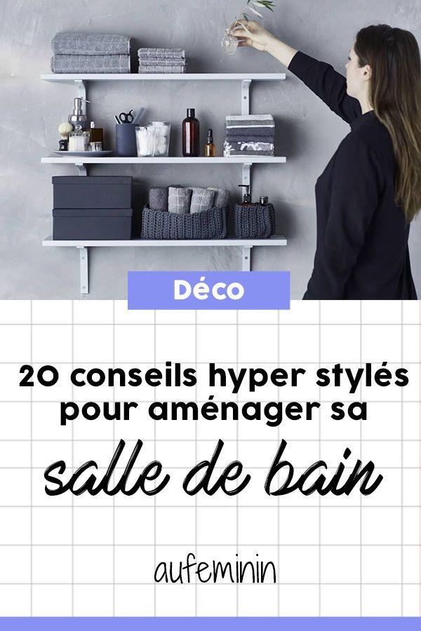 Aménagement petite salle de bain  20 astuces déco stylées DIY