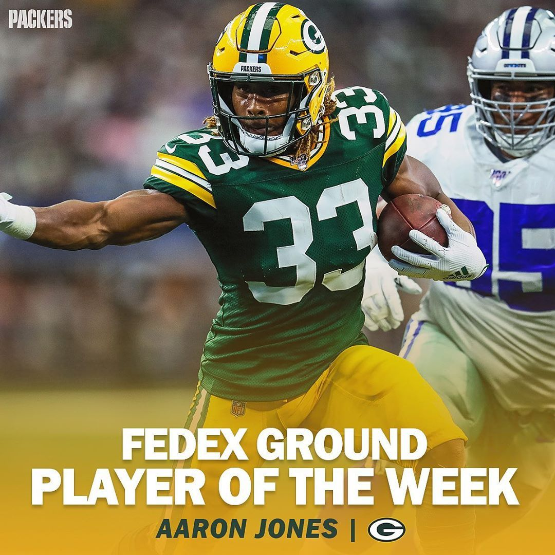 Green Bay Packers On Instagram Congrats To Showtyme 33 On Being Named Fedex Ground Player Of The Week For His 4 Touchdow Packers Green Bay Packers Green Bay