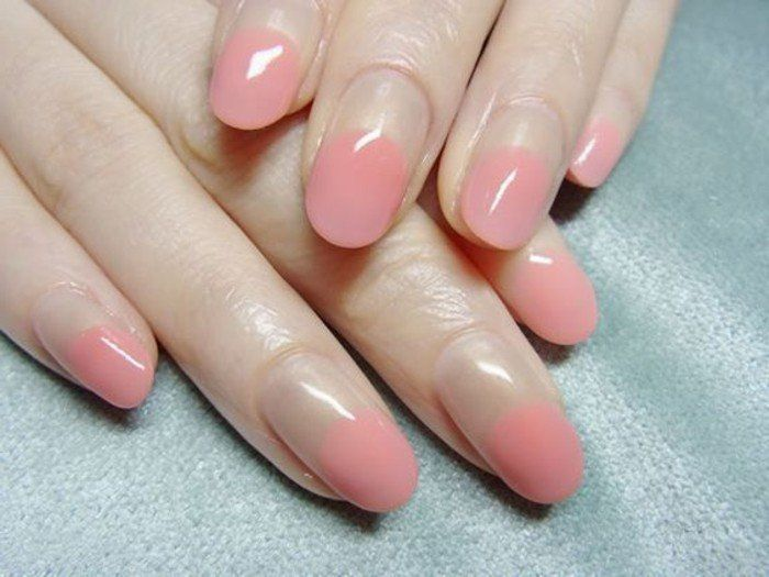 0000 french manucure originale en rose pale idees deco ongle gel