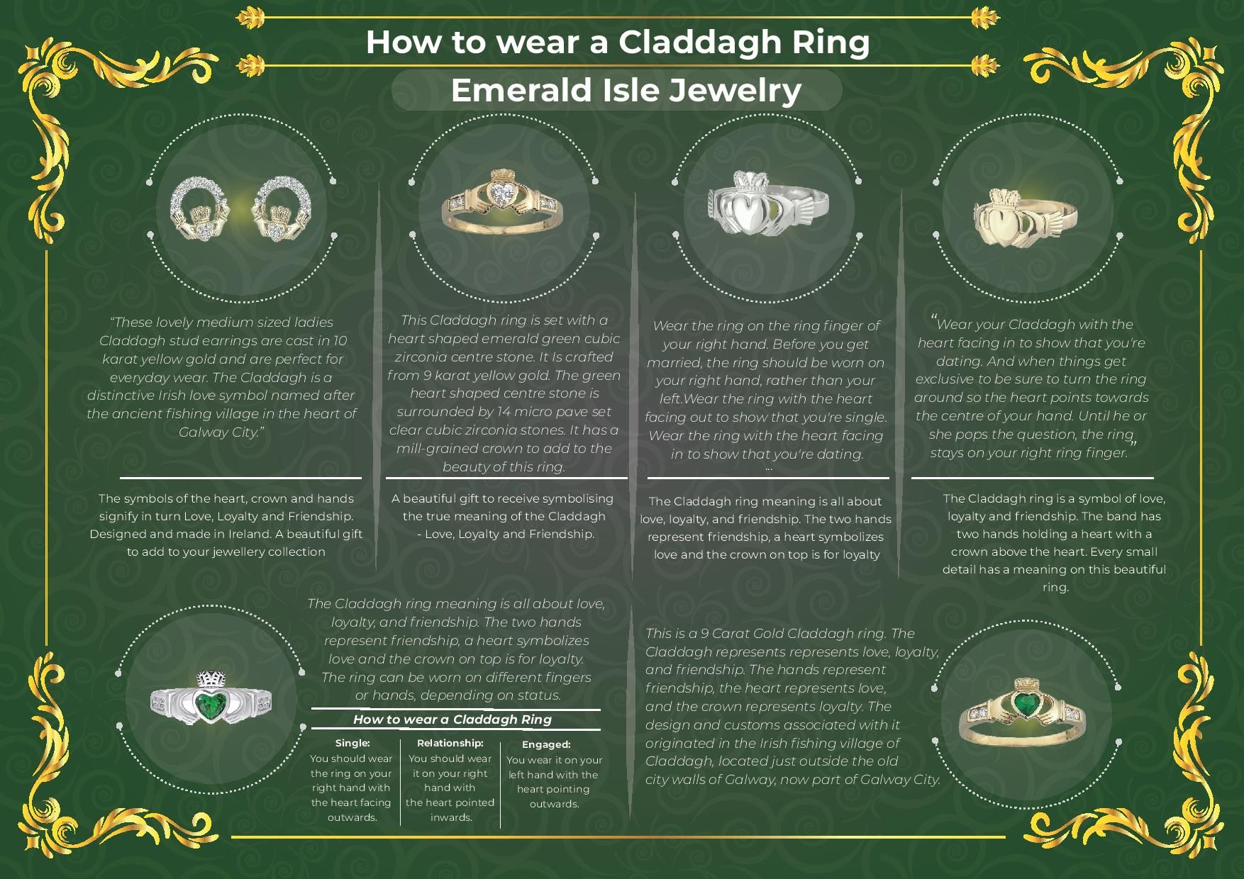How to wear a claddagh ring claddagh rings rings irish