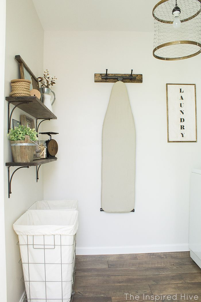 A rustic industrial style laundry makeover with