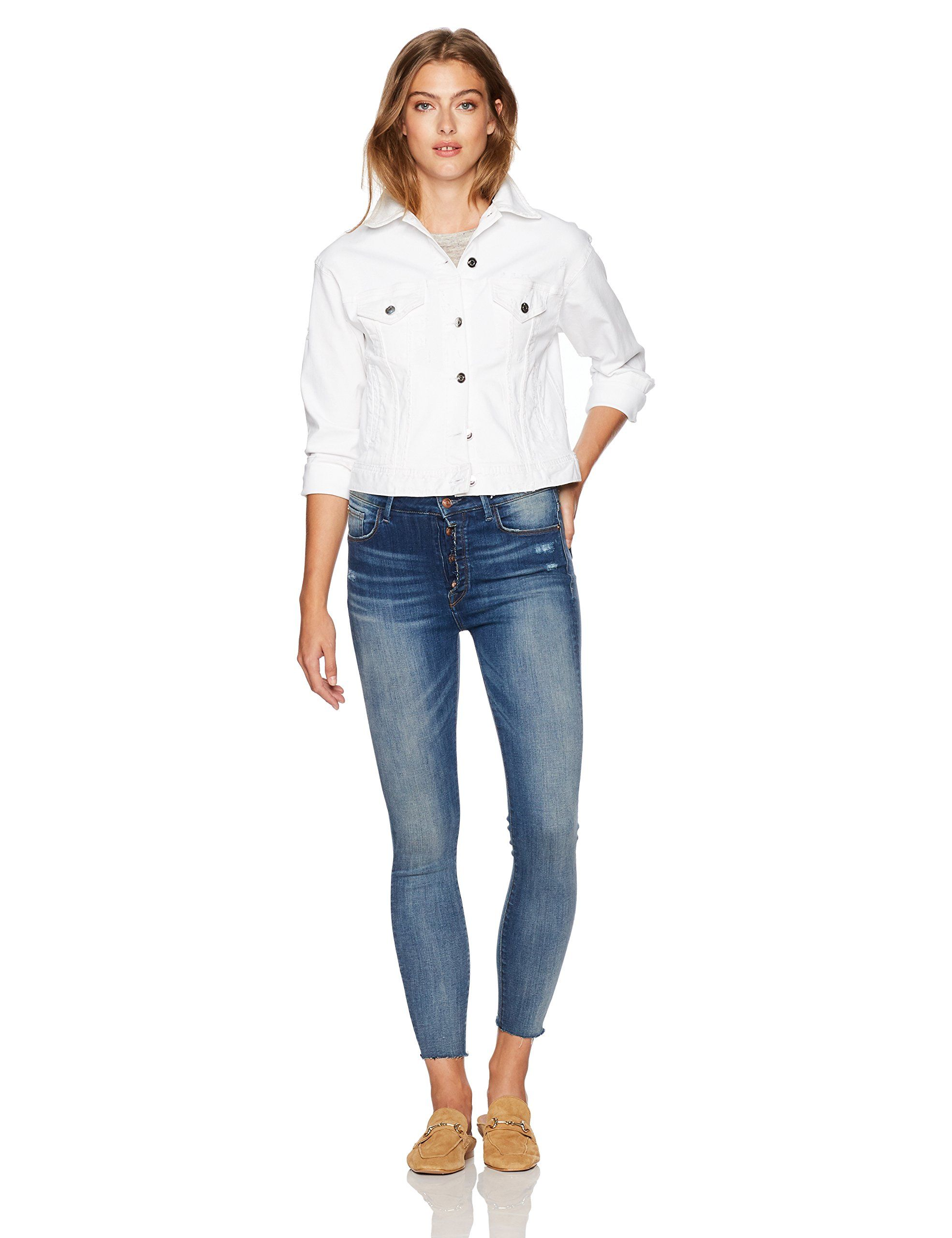 24fee134e8 Madison Womens Parsons High Rise Jean with Exposed Button Lapis 30 -- Want  to know