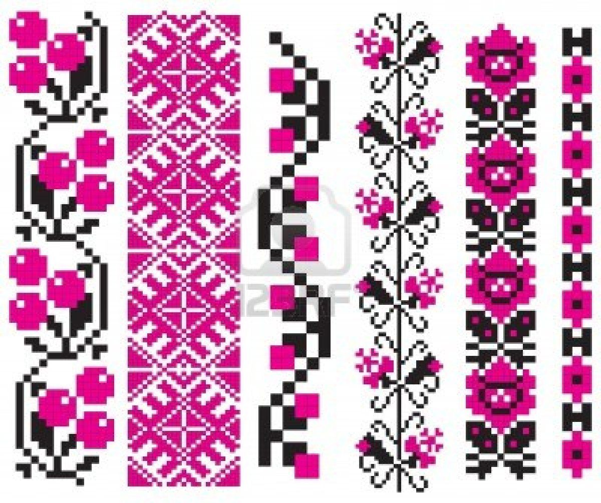 Ornament used in Ukrainian folk crafts, embroidery and painting.