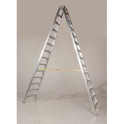 Bauer Corporation 12 Type 1a 300lbs Rated Aluminum Two Way Step Ladder Size 144 H X 62 W X 106 D Aluminium Ladder