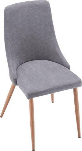 Trendiger Stuhl in Grau im Retro-Look - ein Sitzplatz mit Stil
