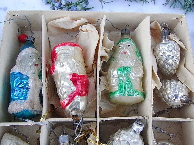Vintage Weihnachtsdeko - alter Christbaumschmuck 15 Formteile shabby chic - ein Designerstück von artdecoundso bei DaWanda