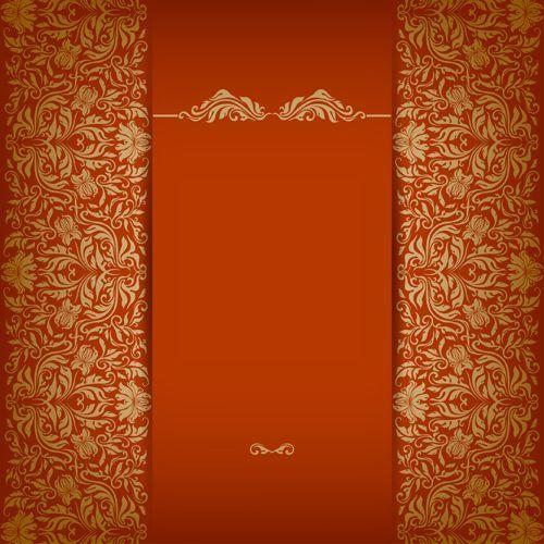 Vintage Luxury Floral Background Art 03 Vector Wedding Invitation Card Design Wedding Card Design Marriage Invitation Card