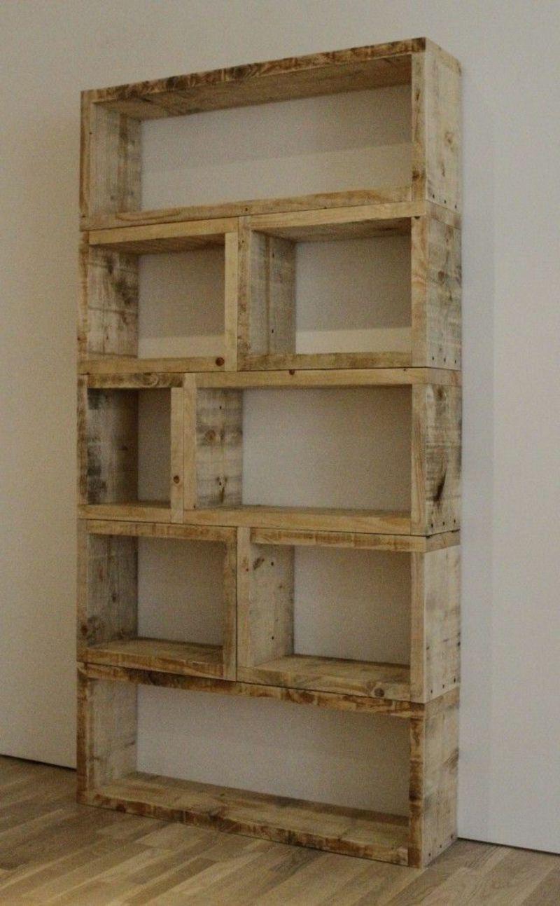 Regal aus Paletten 7 Budget-freundliche DIY Ideen - DIY, Möbel